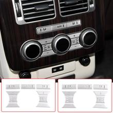 Legering Auto Styling Achterzijde Airconditioning Stoelverwarming Knop Sticker Voor Landrover Range Rover Vogue 2013 17 Interieur accessoires