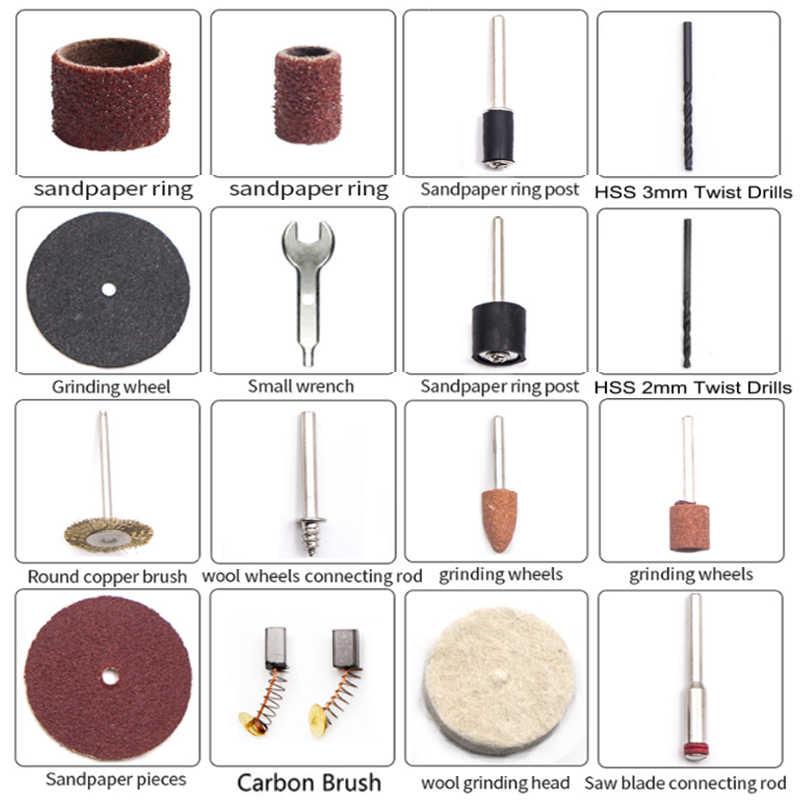 Bdcat 180 w mini moedor de mão ferramentas elétricas broca elétrica mini máquina polimento com ferramenta rotativa dremel acessórios kit conjunto