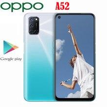 Oppo – SmartPhone A52, Snapdragon 665 Octa Core, 8 go de RAM, 128 go de ROM, écran LCD 6.5 pouces, 2400x1080P, caméra 12mp, batterie 5000Mah, Original, nouveau, officiel