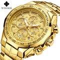 Лучшие брендовые роскошные мужские водонепроницаемые часы в армейском стиле многофункциональный хронограф спортивные часы светящиеся по...