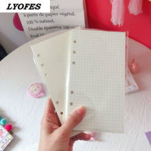 6 Hole Ring Binder Refill Notebooks Journals Blank Grid Notepads Stationery Cute Planners School Office Supplies A6 Diary