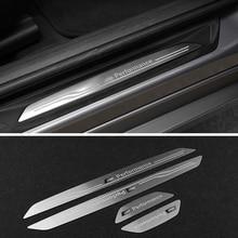سيارة الدواسات عتبة الباب لوحة بالية الجانب ترحيب لوحة ملصقات الداخلية الديكور ل BMW X1 X3 X5 X6 E60 E90 F25 F30 F32 F34 F35