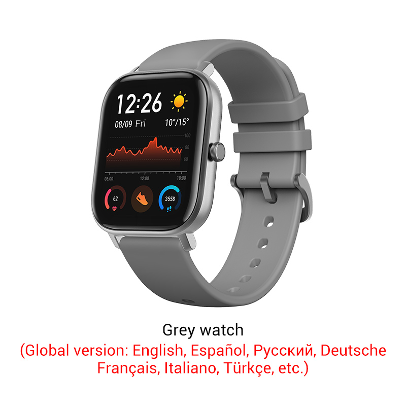 Amazfit GTS Global Version Smart Watch 5ATM Waterproof Smartwatch 14 Days Battery GPS Music Control