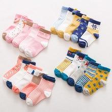 Baby Socks Toddler Winter Kids Cartoon Cotton 5-Pairs for Autunm 1-12Y Animals-Pattern