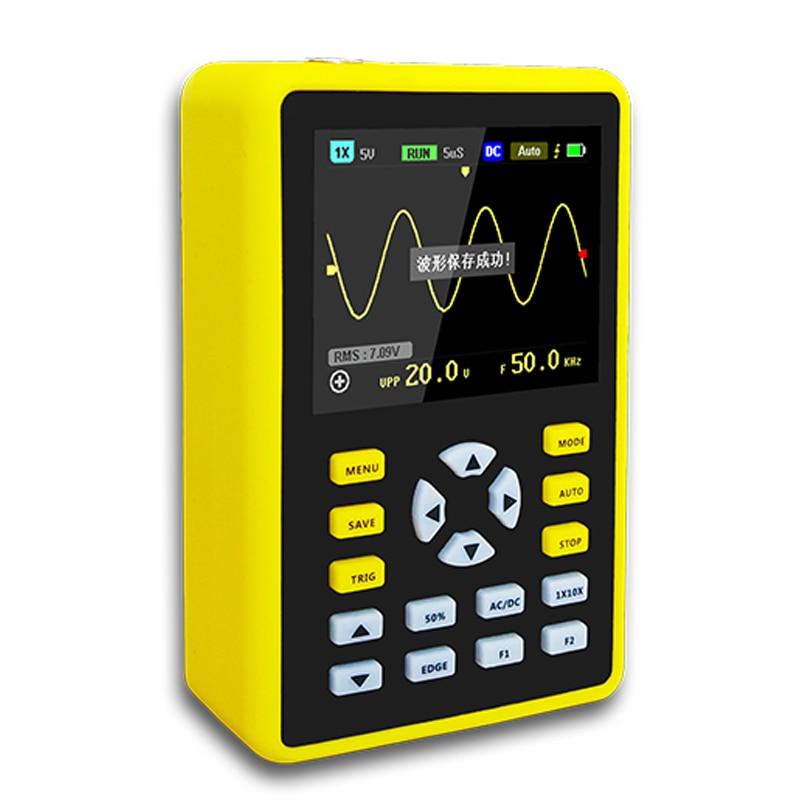 YEAPOOK ADS5012h Handheld Osciloscópio De Armazenamento Digital Portátil Mini Kit com Largura de Banda de 100MHz 500 MS/s de Taxa De Amostragem