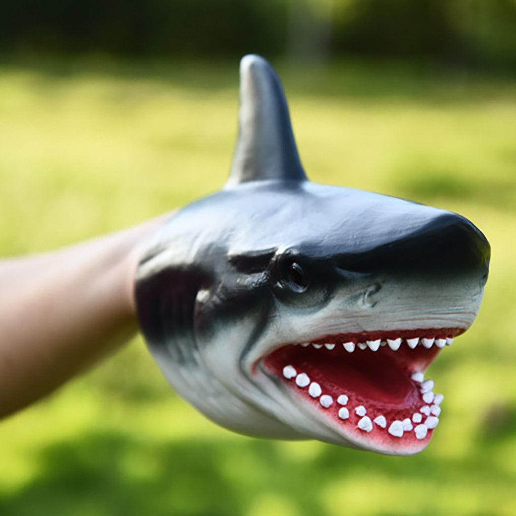 Animal Hand Puppet Model Interactive Toy Hand Puppet Model Toy Role Play Realistic Animal Head Gloves Toy For Children L0219
