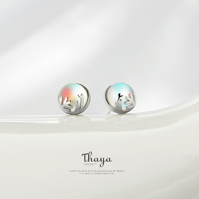 Thaya 925 Silver Aurora Forest Earring Earrings Original Design Jewelry for Women Elegant Gift(China)