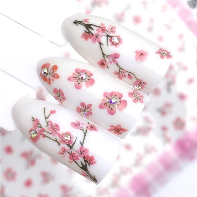 New Style Nail Sticker Little Daisy Perfume Bottle Manicure Flower Stickers Flower Heart Cartoon Children Nail Sticker