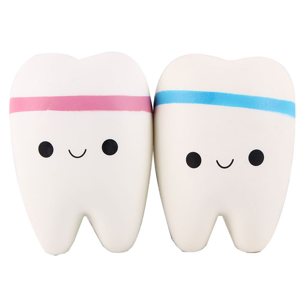 Cute Tooth Model Decompression Vent Toys Antistress Gadgets Stress Relief Toy Creative Anti-anxiety Gift Soft Elastic Toy #A