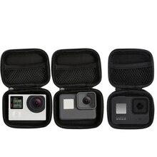 Tamanho pequeno portátil à prova dwaterproof água caso saco da câmera para xiaomi yi 4 k mini caixa coleção para gopro hero 8 7 6 5 4 sjcam acessórios