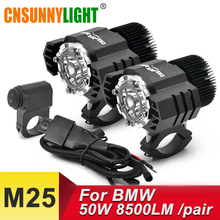 CNSUNNYLIGHT Motorcycle LED Auxiliary Fog Light Assemblies Driving Lamp 50W/pair For BMW R1200GS ADV F800GS F700GS F650GS K1600