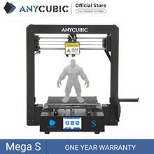 ANYCUBIC-drukarka 3D Mega S, nowa wersja i3, duży rozmiar, precyzyjne użycie TPU, z ekranem dotykowym, zestaw DIY