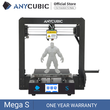 ANYCUBIC Mega S Upgraded FDM 3D Printer with Extruder and Suspended Filament Rack, Free Test PLA Filament Works with TPU/PLA/ABS