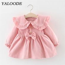 Spring Autumn Baby Dress Corduroy Bow Baby