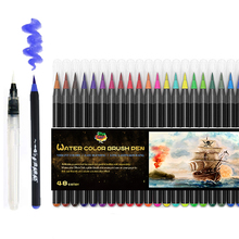 72 + 3 Watercolor Brush Pens for Drawing Coloring Books Manga art marker School Supplies Stationery