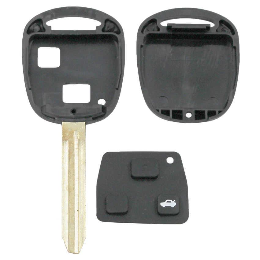 מכירה! 2/3 כפתורי מפתח מרחוק מקרה Fob עבור טויוטה פראדו Tarago קאמרי קורולה מפתח מעטפת ריק TOY43 להב עם כרית TOY47 להב