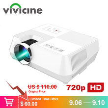 VIVICINE Android HD Projector 1280x800 Pixels Wireless WIFI Miracast Airplay Bluetooth Optional Portable 1080p TV PC Home Beamer(China)