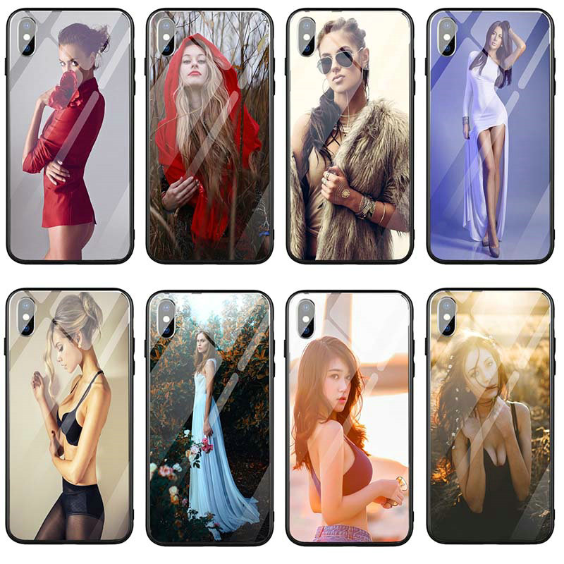 Hot <font><b>Sex</b></font> Sexy Girl Tempered Glass Phone <font><b>Cases</b></font> for <font><b>iPhone</b></font> X XR XS 11 Pro Max 8 <font><b>7</b></font> 5 5S SE 6 6S <font><b>Plus</b></font> 7Plus 8Plus Coque Shell image