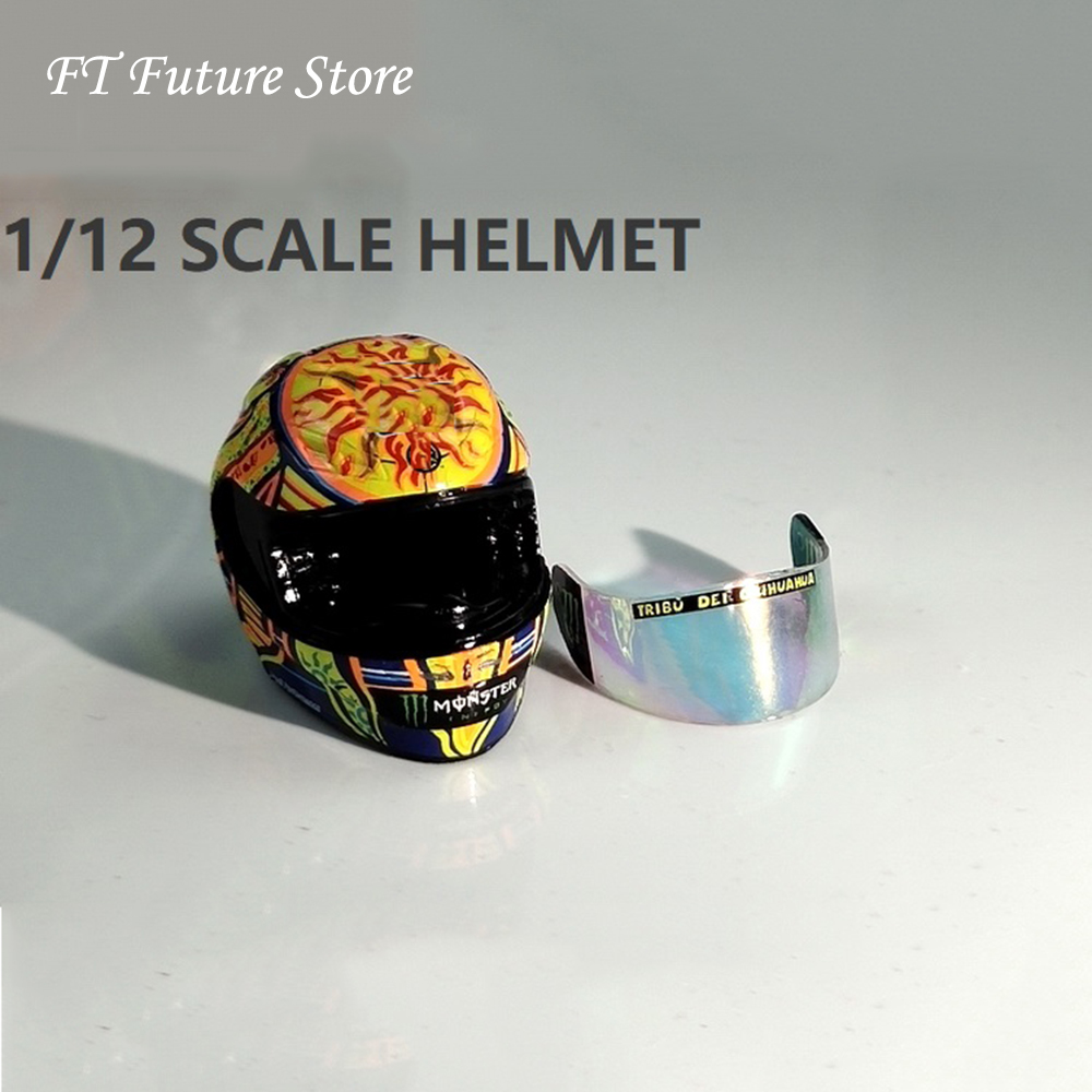 In Stock <font><b>1/12</b></font> Scale Figure Scene Accessories Racer <font><b>Motorcycle</b></font> Helmet Mini <font><b>Model</b></font> for 6 inches Action Figure image