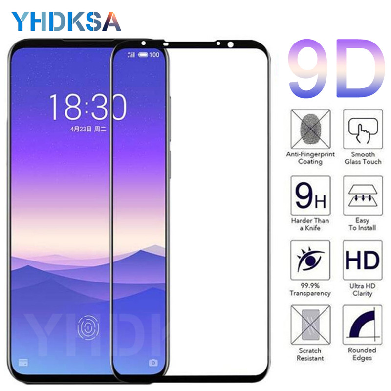 9D Tempered Glass on the For <font><b>Meizu</b></font> <font><b>16</b></font> th 16S 16X Plus 16XS X8 Note 8 9 M8 <font><b>Pro</b></font> 7 Plus Screen Protector Protective Glass Film Case image