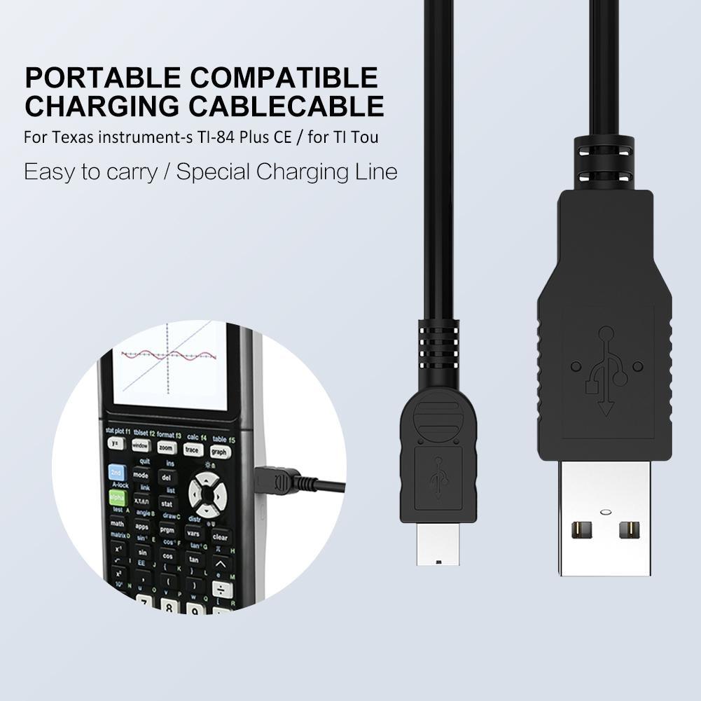 2 шт. аксессуары для замены домашнего графического калькулятора USB зарядный кабель ПВХ Универсальный дорожный портативный для техасских инструментов