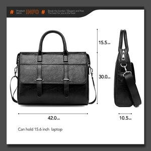 Image 5 - VICUNA POLO جديد أسود جلد العلامة التجارية الشهيرة رجال الأعمال حقيبة للمستندات حقيبة عادية 15.6 بوصة حقيبة يد للحاسوب المحمول للذكور
