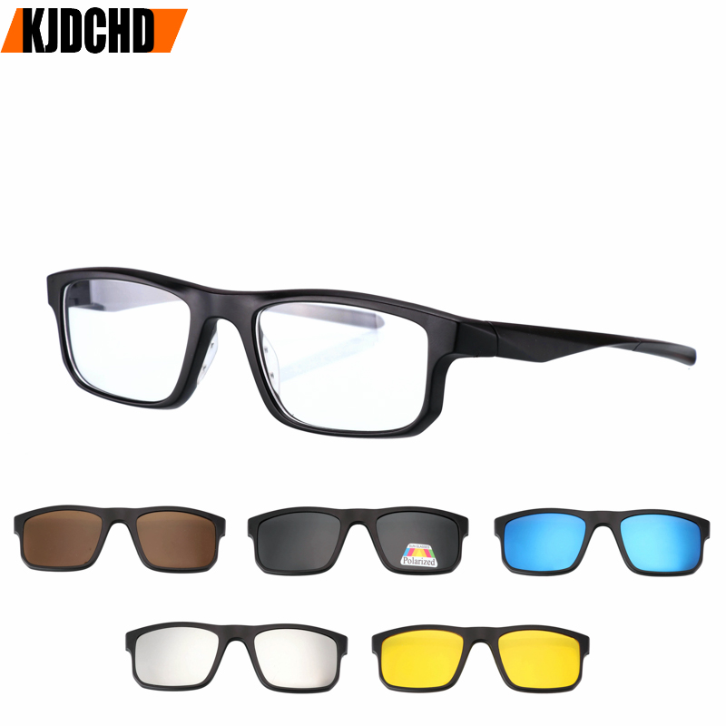 Polarized <font><b>Sunglasses</b></font> Reading Glasses men women Anti-blue light fashion presbyopic spectacles for <font><b>5</b></font> <font><b>lens</b></font> <font><b>magnet</b></font> <font><b>clips</b></font> +1.+1.<font><b>5</b></font>+2 image
