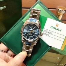 Rolex- Women Men's Quartz sky Watch fashion Luxury brand Gift gold Casual Waterproof Designer watches 1059 Orders