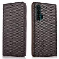 Luxury Genuine Leather Handmade Flip Case For Lenovo S5 Pro/Lenovo K5 Pro/Lenovo Z5S Magnetic Phone Bag Standing Back Case Funda