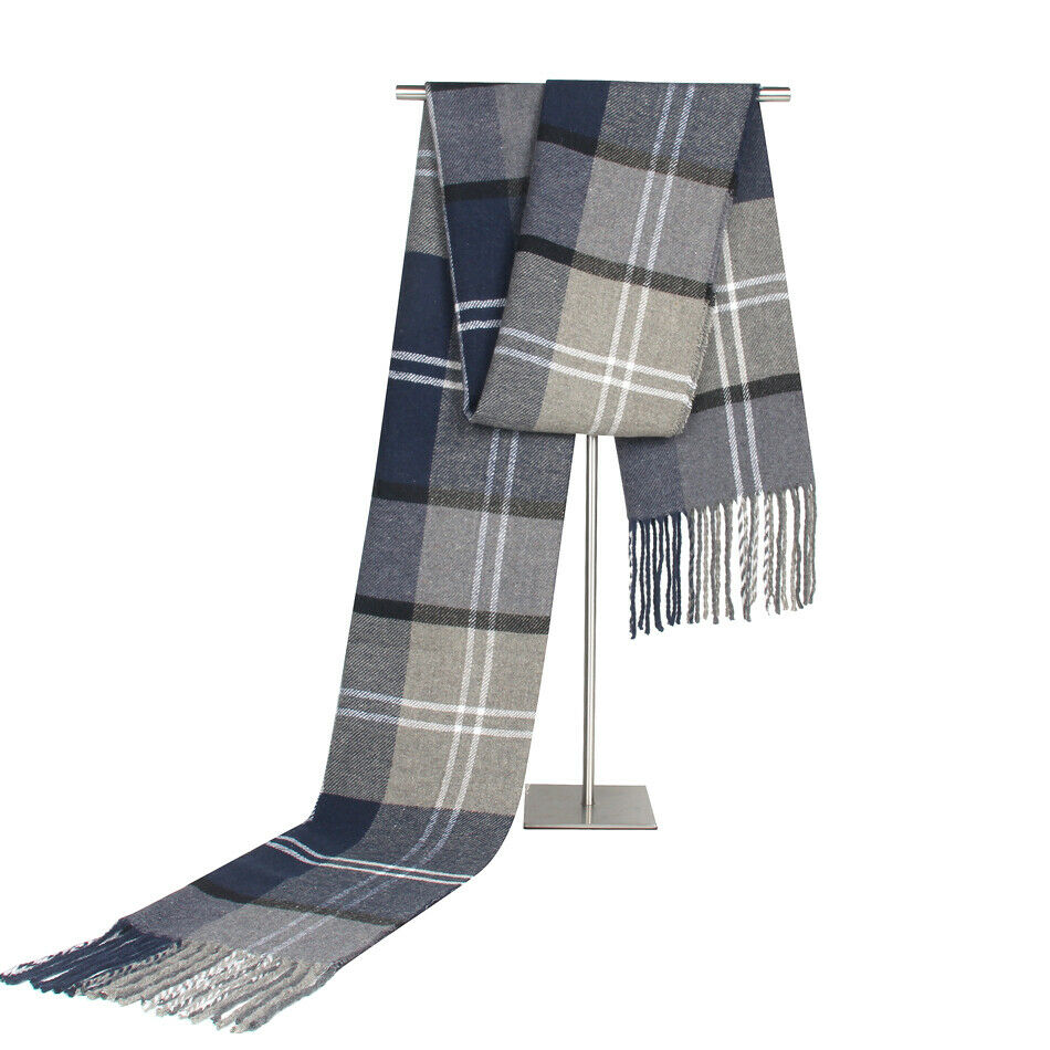 Goocheer Fashion Men Scotland Soft Scarf Men Fine Soft Thermal Scarf Check Plaid Warm Winter Shawl Neck Wrap Long Scarf 190*30CM