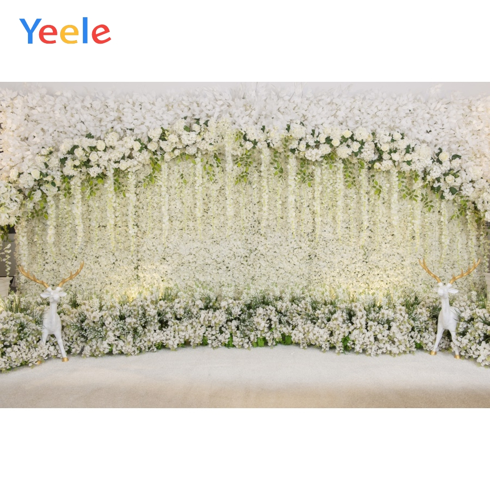 Yeele Wedding Party Flowers Arc Wall Elks Decor Ins Photography Backdrops Personalized Photographic Backgrounds For Photo Studio in Background from Consumer Electronics