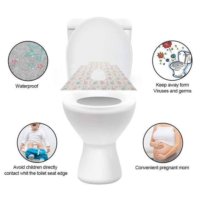 Sensational 20Pcs Disposable Toilet Seat Maternal Child Toilet Seat Toilet Training Seat Cover Waterproof Non Slip Pregnant Women Toilet Mat Pdpeps Interior Chair Design Pdpepsorg