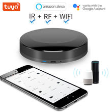 Tuya alexa google assisten wifi ir + rf 4g universal inteligente controlador remoto automação para aok dooya