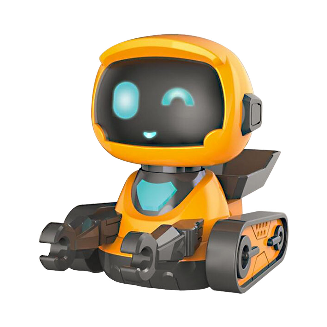 Children High Tech  Intelligent RC Programming Dancing Robot With Watch Shaped Remote Control - Caterpillar Type