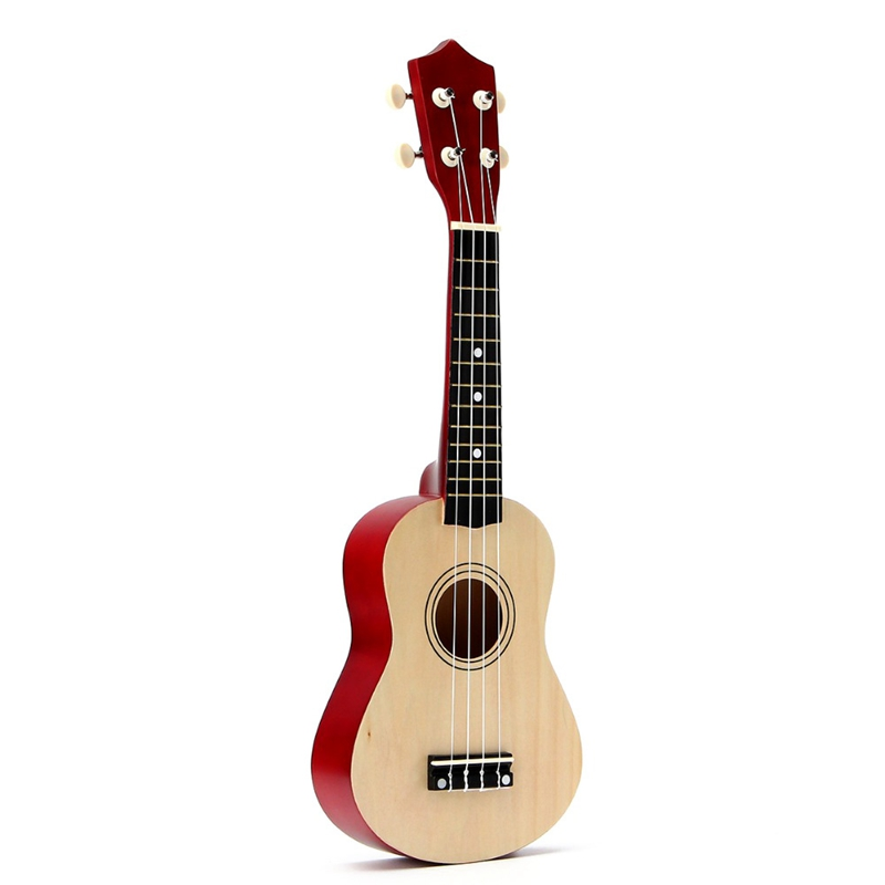 ABZB-21 Inch Soprano Ukulele 4 Strings Hawaiian Guitar Uke + String + Pick For Beginners Kid Gift