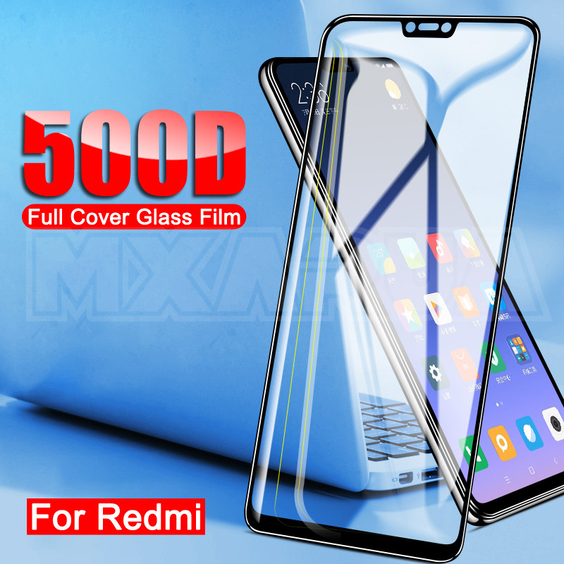 500D Protective Glass For Xiaomi Redmi 7 7A 6 Pro 5 Plus 6A 5A S2 K20 K30 Redmi Note 6 Pro Tempered Glass Screen Protector Film(China)