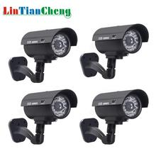 4pcs Dummy CCTV Camera Bullet Waterproof Outdoor Security Street Surveillance Home Fake With Led Light Free Shipping