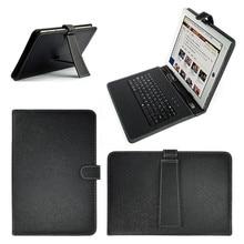 2 в 1 Пыленепроницаемая клавиатура черный PU+ PC кожаный чехол с подставкой чехол для планшета Android 10,1 дюймов со встроенной USB проводной клавиатурой