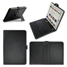 2 In 1 Dustproof Keyboard Black PU+PC Leather Cover With Stand Case For Android Tablet 10.1Inch With Built-in USB Wired Keyboard