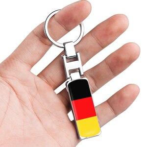 Metal 3D Alemania bandera insignia emblema llavero Decoración Para Benz BMW Audi Subaru llavero para motocicleta anillo accesorio para coche