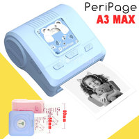 Peripage A3 MAX 57mm 80mm Portable Mini Pocket Photo Printer Bluetooth Thermal Printer For Mobile Phone Computer Windows System