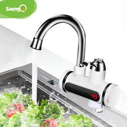 saengQ Temperature Display Instant Hot Water Tap Tankless Electric Faucet Kitchen Instant Hot Faucet Water Heater Water Heating