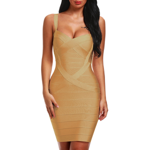 Image 5 - INDRESSME 2020 Bandage Dress Sexy Mini Spaghetti Strap Bodycon Strapless Club Party Summer Lady Dresses Femme Vestidos