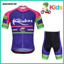 MAKOSHARK 2019 New Style Boys Summer Team Bicycle Suit  Racing Riding Jersey Pants Sets Motorcycle MTB Clothes