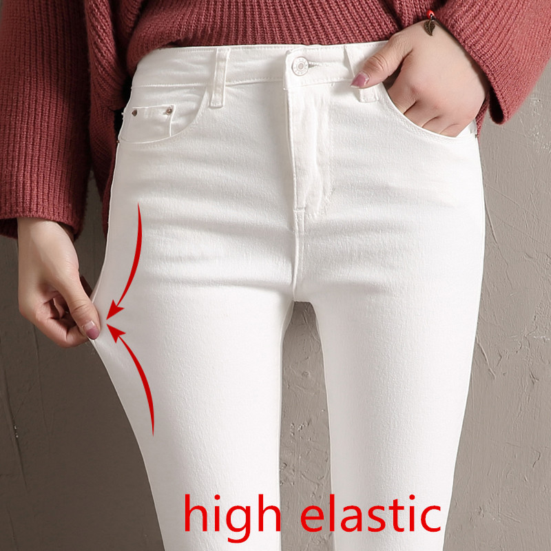 Women Jeans Skinny Denim Pants 2020 Spring Summer Female Vintage Slim Casual Elastic Stretch Jeans Demin Pencil Pant Trousers