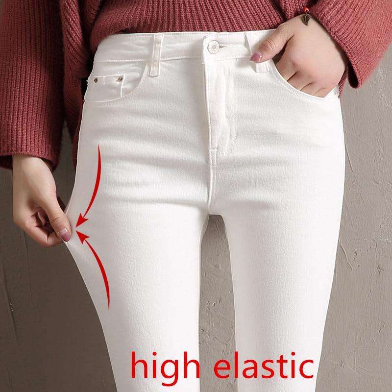 Women Jeans Skinny Denim Pants 2020 Spring Summer Female Vintage Slim Casual Elastic Stretch Jeans Demin Pencil Pant Trousers