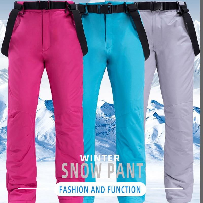 inverno quente traje jaqueta de esqui e cinta calças de neve
