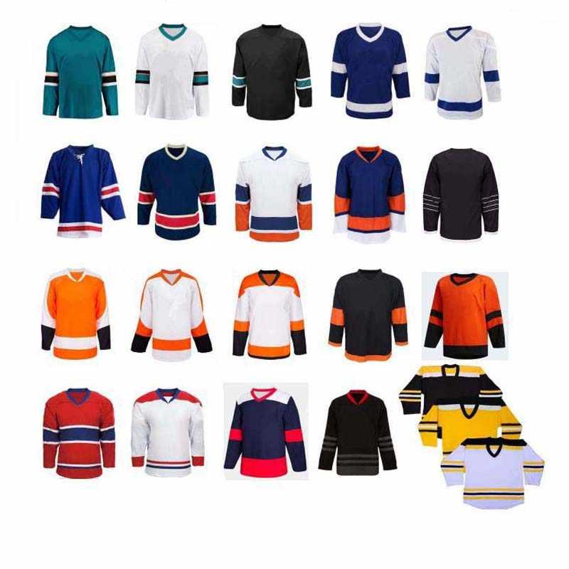 Blank hockey jersey, können custom logo, hohe qualität
