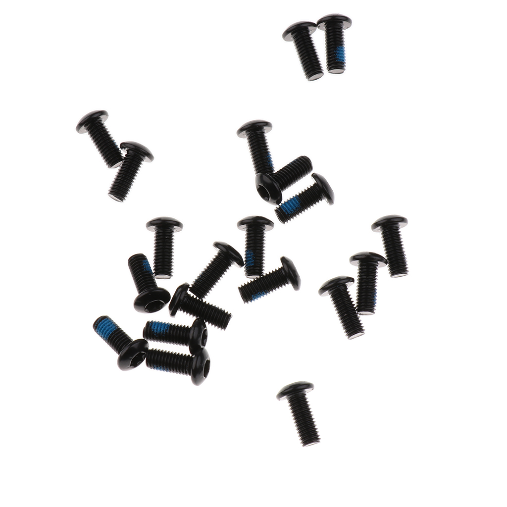 20pcs Steel Bike Disc Brake Rotor Screw <font><b>Bolts</b></font> <font><b>M5</b></font> x <font><b>10mm</b></font> for Bicycle MTB Bike, Water Bottle Screws image