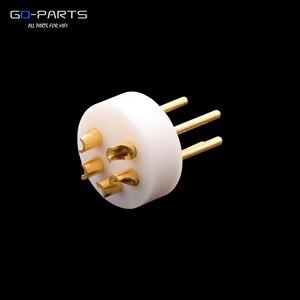 Image 1 - EIZZ conector DIN macho de 5 pines LP tocadiscos, grabador de tonos, Conector de vinilo, aislador de cobre chapado en oro de 24k, PTFE 1 ud.